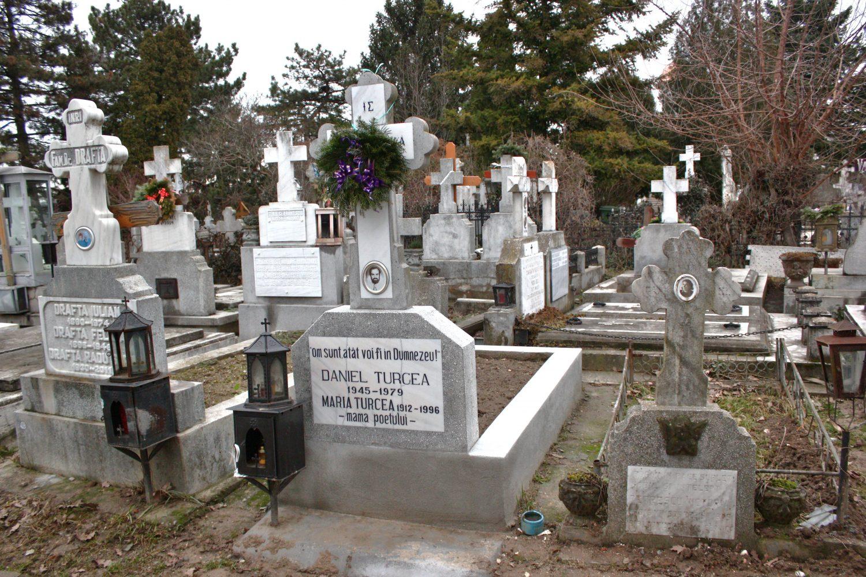 Mormântul lui Daniel Turcea de la Mănăstirea Cernica