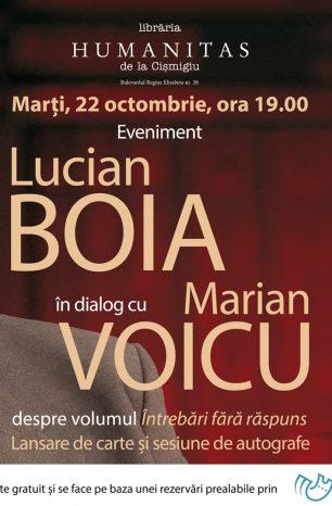 """Lucian Boia în dialog cu Marian Voicu   """"Întrebări fără răspuns"""""""