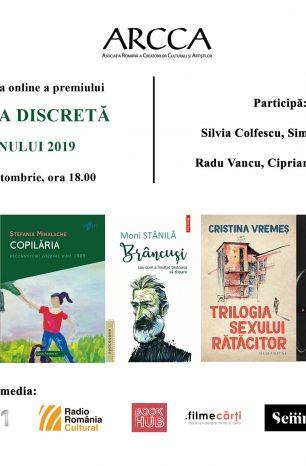 Decernarea premiului CARTEA DISCRETĂ A ANULUI 2019