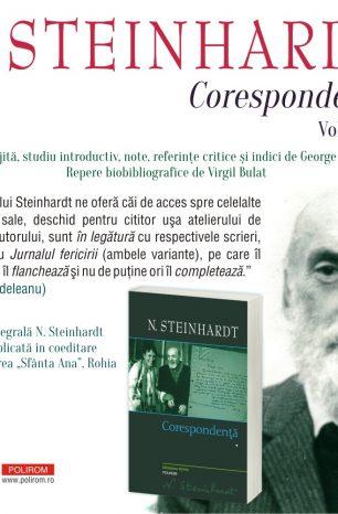 "Apariție-eveniment la Editura Polirom: ""Corespondență. Volumul I"", Seria de autor N. Steinhardt"